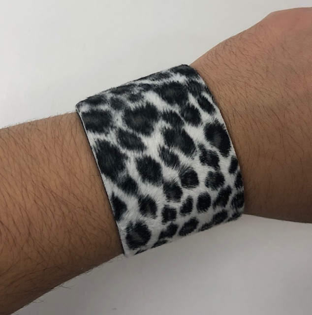 LEOPARD STYLE  FUR LOOKING  BRACELETS, VELCRO CLOSE.,LIMITED STK
