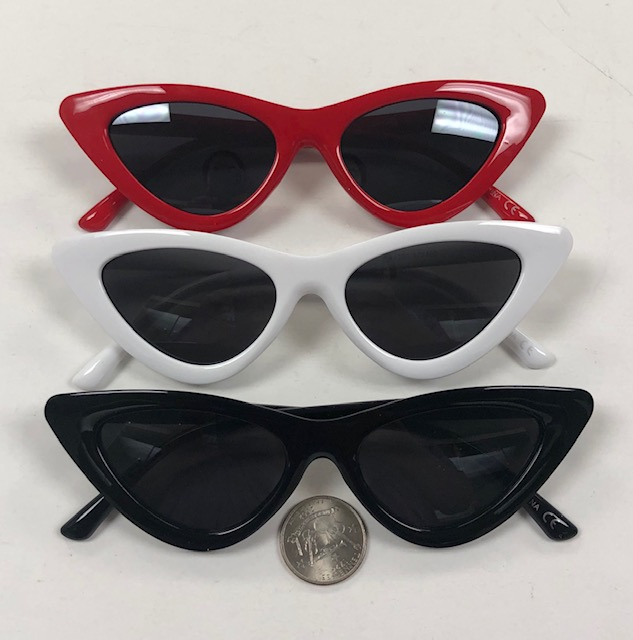 CAT EYE SHAPE SUNGLASSES IN 3 COLORS WITH DARK LENS