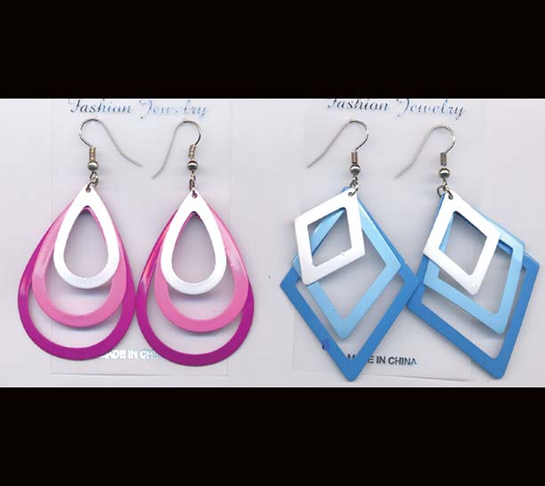 3 PIECES SHAPES EARRINGS DZ/