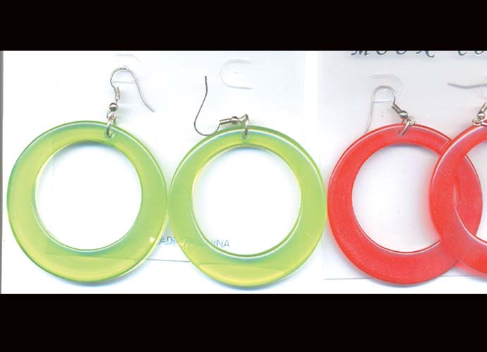 LARGE HOLE EARRING DZ/