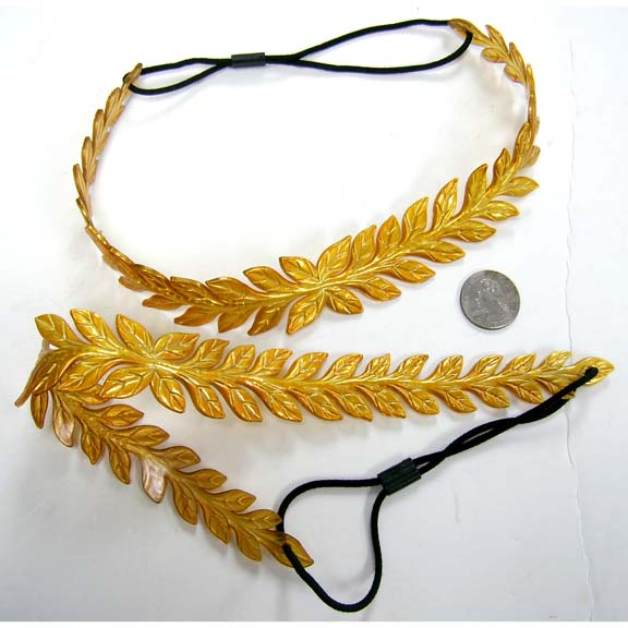 LEAF NEW GOLD COLOR CEASAR STYLE HEADBAND