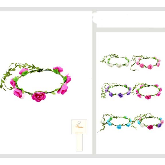 FLOWER HEADBAND ASSORTED COLORS