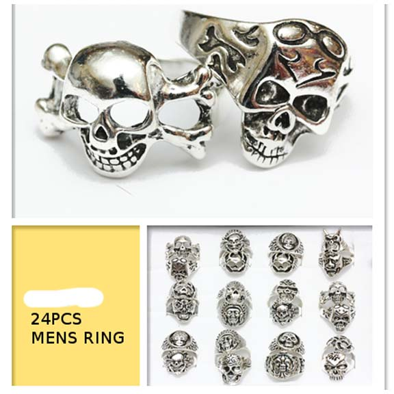 SKULL RINGS ASSORTED STYLES AND SIZES