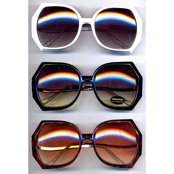 RETRO DIAMOND OPAQUE COLOR SUNGLASSES