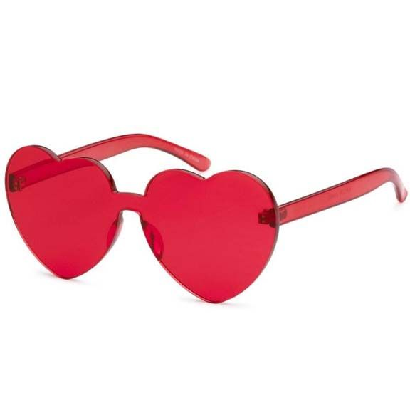 HEART SHAPE INJECTION MOLD ASST COLOR SUNGLASSES