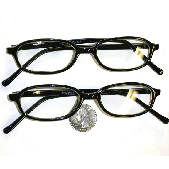 CLEAR LENS  THIN CLASSIC GLASSES black frames only in stock