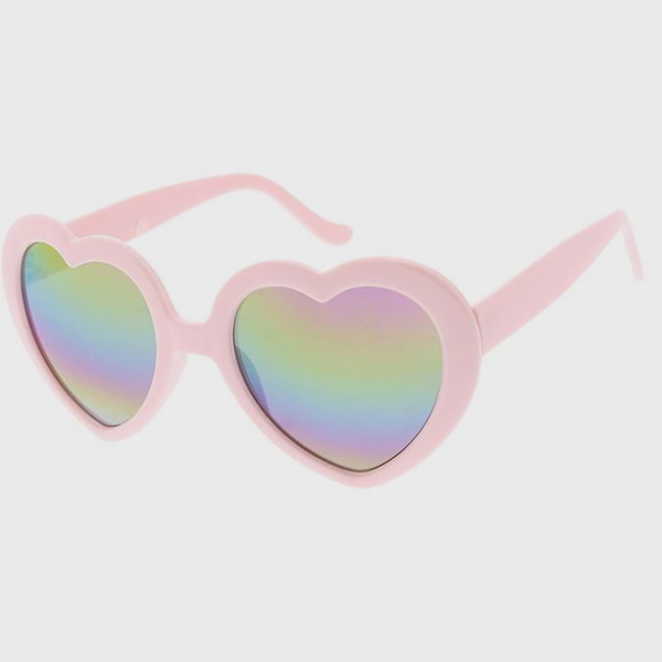 HEART SHAPE  WITH REVO LENSES, 4 COLORS SUNGLASSES, B/W/R