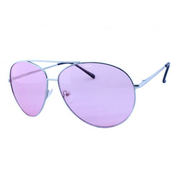 AVIATOR SUNGLASSES, COLOR LENS, A BIT LARGER, SPRING TEMPLE QUAL
