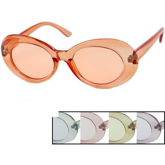 JACKIE O STYLE FRAMES, TRANSLUCENT FRAMES, WITH COLOR LENSZ