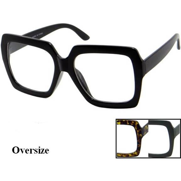 CLEAR LENS OVERSIZE SQUARISH SHAPE  GLASSES