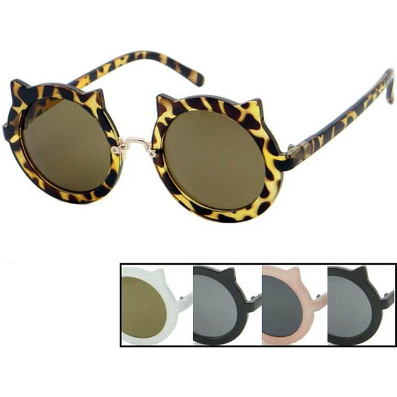 CAT EARS STYLE ROUND FRAMES, IN ASSORTED COLORS SUNGLASSES