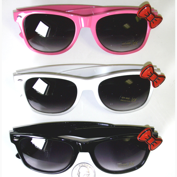 BOW ON BLUES BROTHER DARK LENS SUNGLASSES