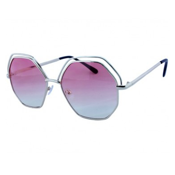 OCEAN LENS LARGE 8 SIDED METAL FRAMES SUNGLASSES