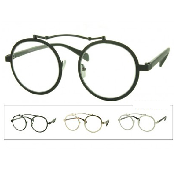 CLEAR LENS VINTAGE LOOKING GLASSES WITH FUNK
