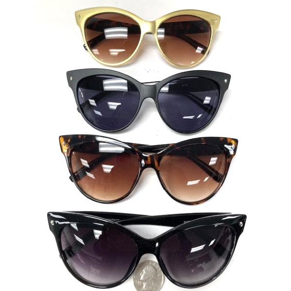 CAT EYE STYLE LARGE SUNGLASSES -- ASSORTED