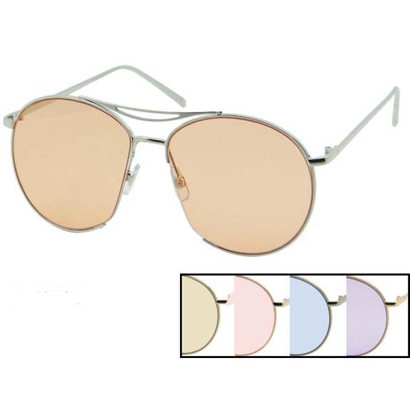 COLOR LENS, METAL LARGE FLAT FRAMES,  COOL LOOK