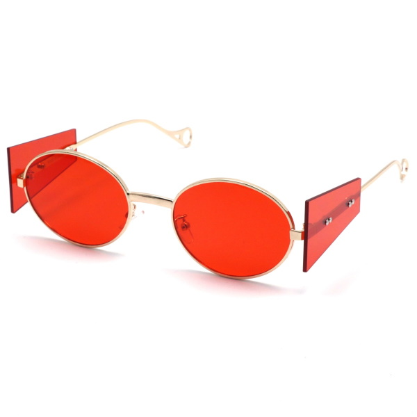 OVAL SHAPE AND SIDE PANEL COLOR SUNGLASSES