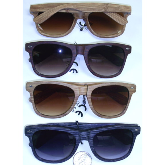 BLUES BROTHERS STYLE WOOD GRAIN LOOKING FRAMES-3 COLORS