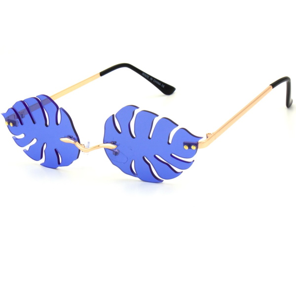 LEAF SHAPE ASSORTED COLOR SUNGLASSES