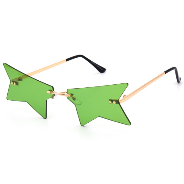 PARTIAL STAR SHAPE ASSORTED COLORS SUNGLASSES