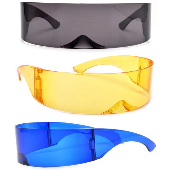 ROBOT/FUTURISTIC COLOR LENS SUNGLASSES