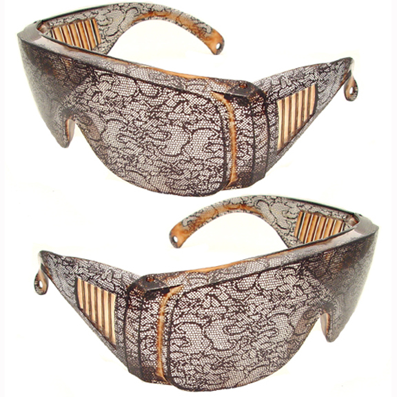LACE COVERED LARGE FUNKY POP STAR LOOKING SUNGLASSES