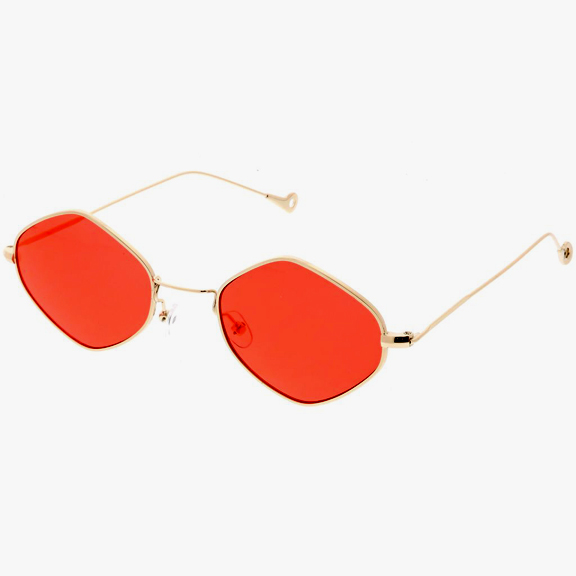 6 COLORS LENSES  ROUNDISH GOLD FRAMES SUNGLASSES