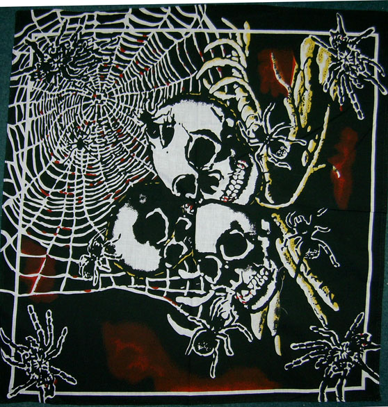 SPIDERS AND SKULLS BANDANA