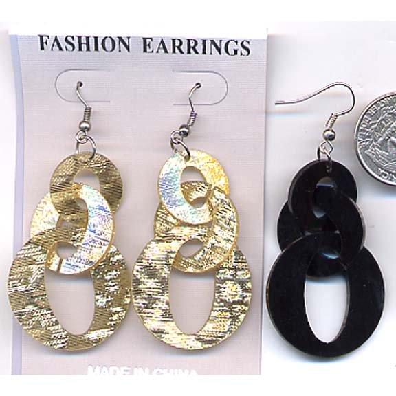 "3 SIZE ""O""'S HANGING EARRINGS"