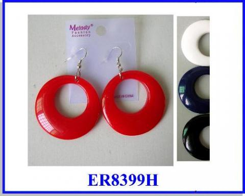 CLASSIC shape  EARRING IN BLACK, WHITE, & RED