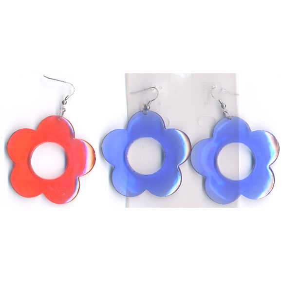 daisy shape earrings in assorted colors