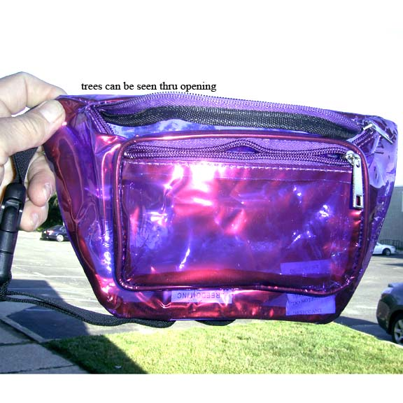 CLEAR/3 COLORS IRIDESCENT COLOR FANNY PACKS