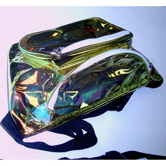 DEEP GOLD/CLEAR IRIDESCENT FANNY PACKS