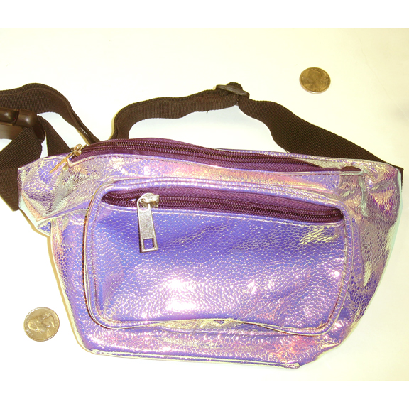 IRIDESCENT COLORS REPTILE STYLE SCALES LOOK VINYL FANNY PACKS