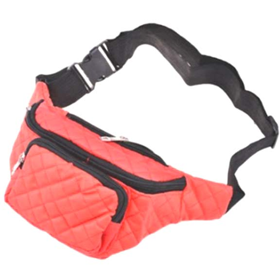 4 COLORS FANNY PACKS, BLACK, BLUE, WHITE AND RED