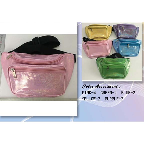 GLITTER LOOK, 5 COOL COLORS FANNY PACKS