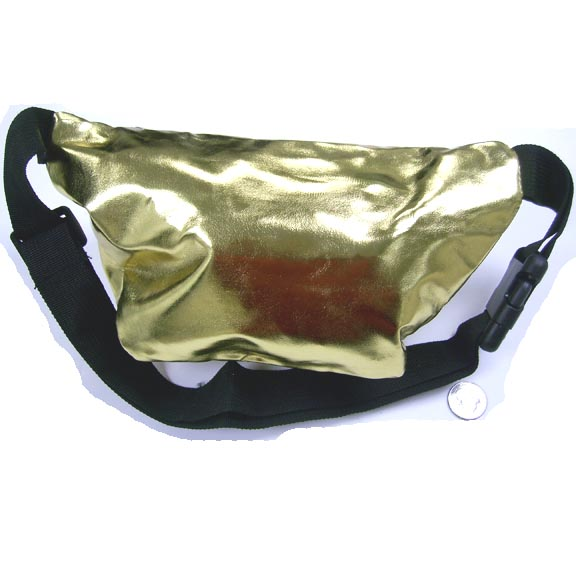 GOLD COLOR METALLIC SHINY FANNY PACK. GREAT SELLER