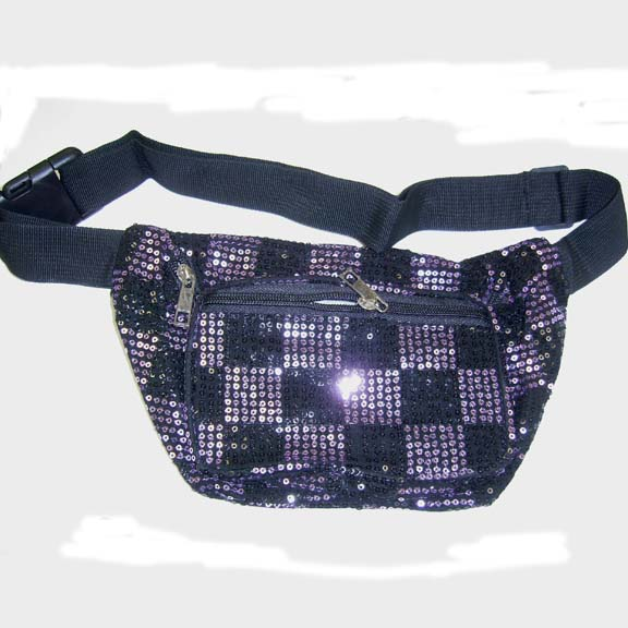 CHECKERBOARD SEQUIN FANNY PACKS