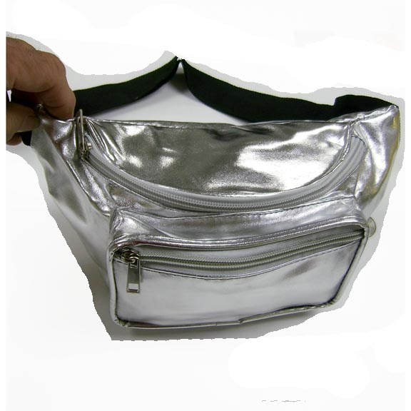 SILVER COLOR SHINY METALLIC FANNY PACK