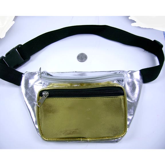 GOLD/SILVER COMBO FANNY PACKS