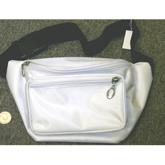 WHITE SHINY FANNY PACK