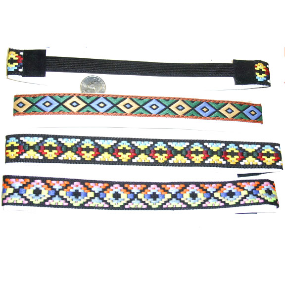 ELONGATED DIAMOND PATTERN MOD PRINT HEADBANDS