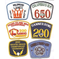 BOWLING PATCHES, 100's  OF STYLES