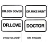 DOCTOR, AND DR. NAME PATCHES