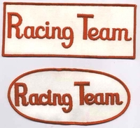 RACING TEAM PATCHES FOR BACK OF ..