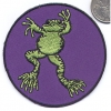 FROG PATCH PURPLE BACKGROUND