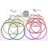 3 HOOPS IN COLORS EARRINGS