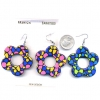 DAISY SHAPE PRETTY PRINT EARRINGS