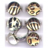 ANIMAL PRINT SMALL DOME RING