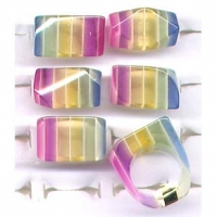 GLOW IN THE DARK STRIPE LUCITE RINGS